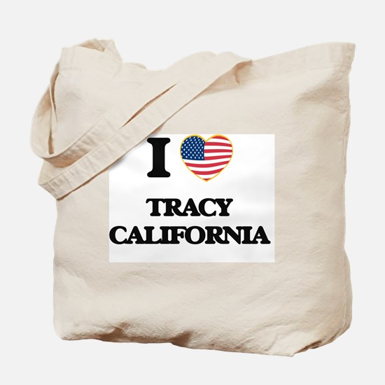 I love Tracy California USA Design Tote Bag