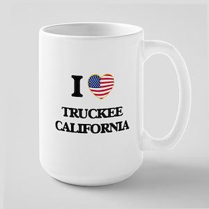 I love Truckee California USA Design Mugs