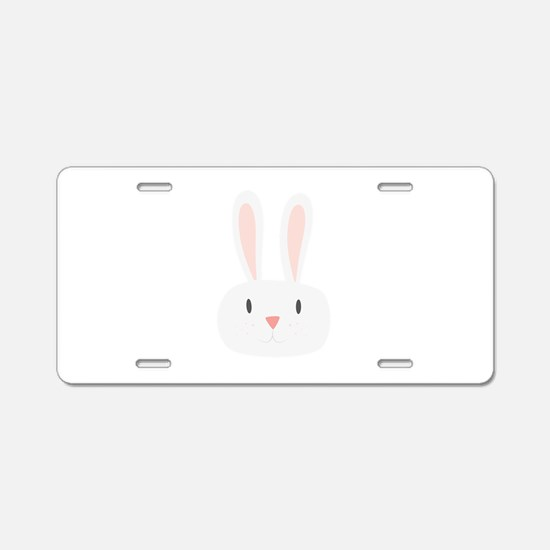 Bunny Rabbit Aluminum License Plate