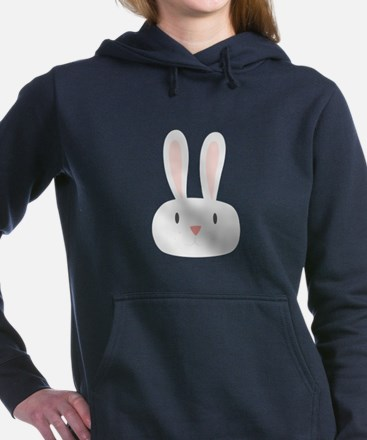 Bunny Rabbit Women's Hooded Sweatshirt