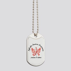Aplastic Anemia Butterfly 6.1 Dog Tags