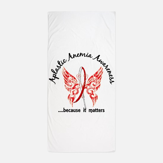 Aplastic Anemia Butterfly 6.1 Beach Towel
