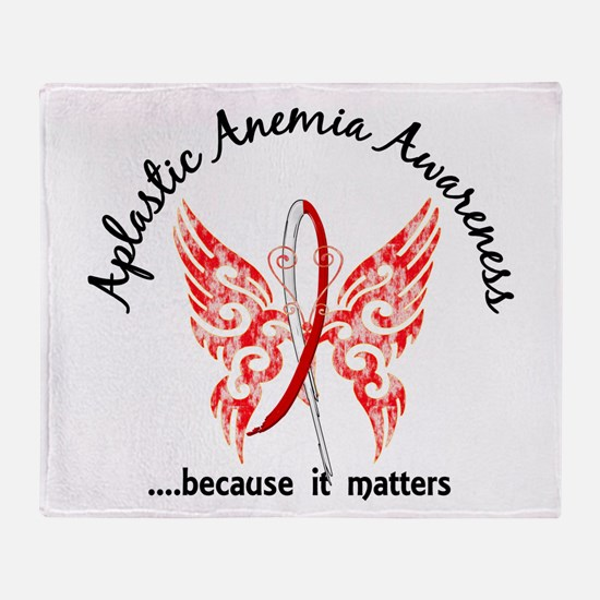 Aplastic Anemia Butterfly 6.1 Throw Blanket