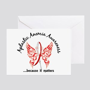 Aplastic Anemia Butterfly 6.1 Greeting Card