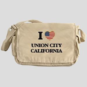 I love Union City California USA Des Messenger Bag