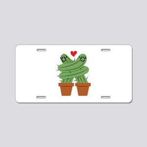 Cactus Love Aluminum License Plate