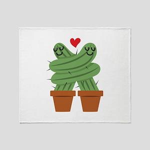 Cactus Love Throw Blanket