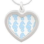 Light Blue Seahorses Necklaces
