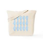 Light Blue Seahorses Tote Bag