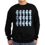 Light Blue Seahorses Sweatshirt