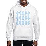 Light Blue Seahorses Hoodie