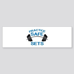 Practice Safe Sets Bumper Sticker