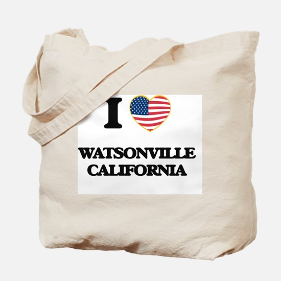 I love Watsonville California USA Design Tote Bag
