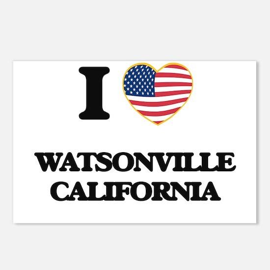 I love Watsonville Califo Postcards (Package of 8)