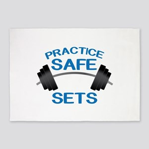 Practice Safe Sets 5'x7'Area Rug