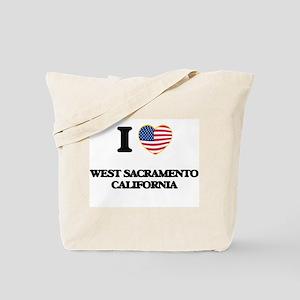 I love West Sacramento California USA Des Tote Bag