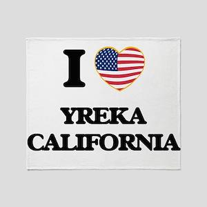 I love Yreka California USA Design Throw Blanket