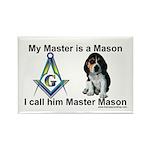 Masonic Dog House Rectangle Magnet