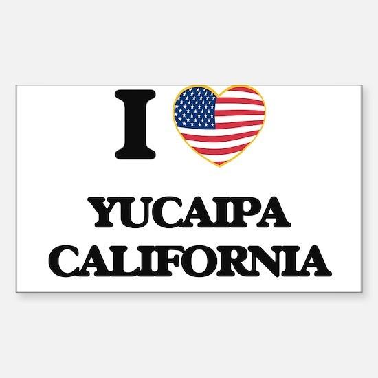 I love Yucaipa California USA Design Decal