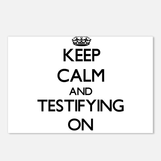 Keep Calm and Testifying Postcards (Package of 8)