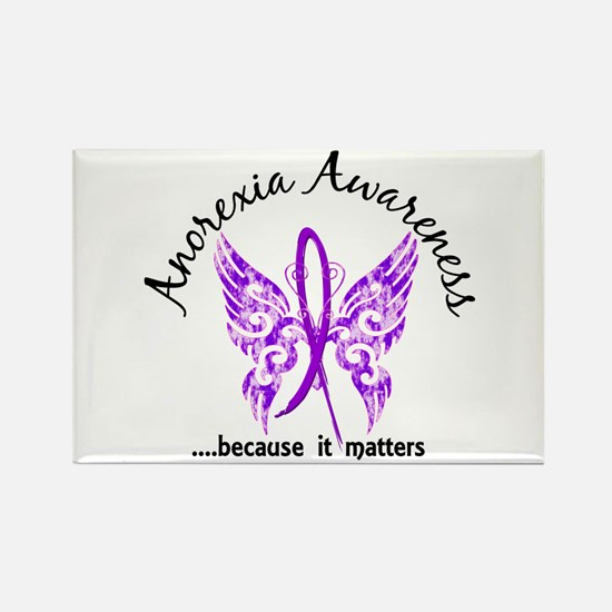 Anorexia Butterfly 6.1 Rectangle Magnet
