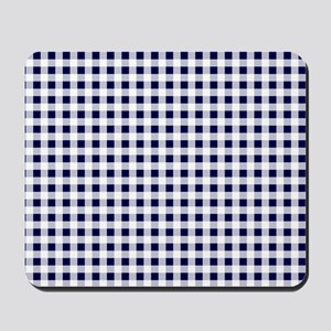 Blue Gingham Pattern Mousepad