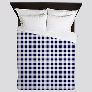 Blue Gingham Pattern Queen Duvet