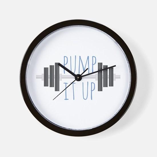 Pump It Up Wall Clock