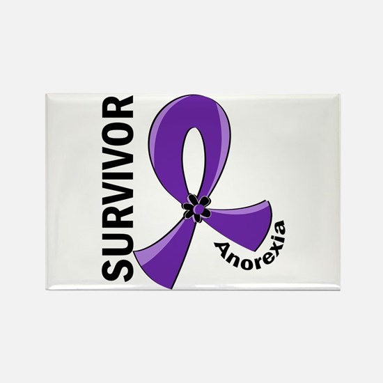 Anorexia Survivor 12 Rectangle Magnet