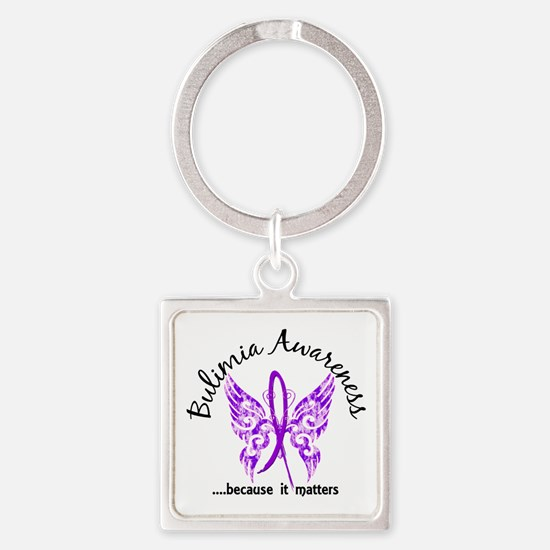 Bulimia Butterfly 6.1 Square Keychain