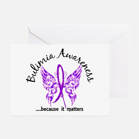 Bulimia Butterfly 6.1 Greeting Card
