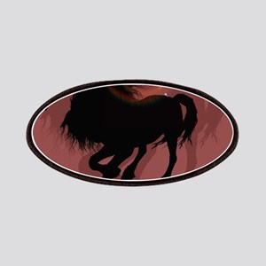 Horse silhouette in black Patch