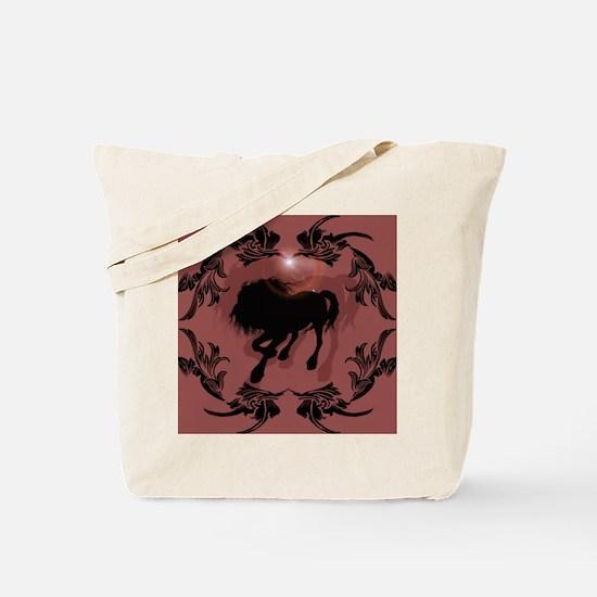 Horse silhouette in black Tote Bag