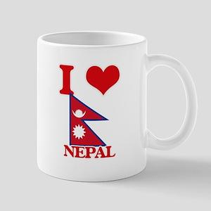 I Love Nepal Mugs