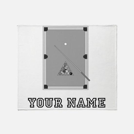 Pool Table (Custom) Throw Blanket
