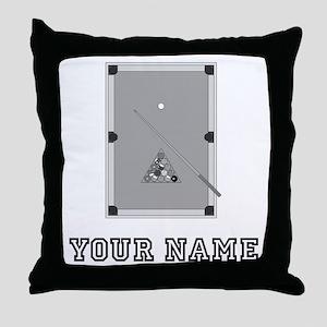 Pool Table (Custom) Throw Pillow