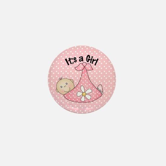 It's A Girl Baby Bundle Mini Button
