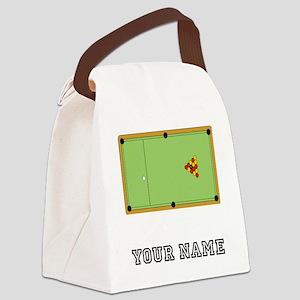 Billiards Table (Custom) Canvas Lunch Bag