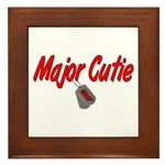USAF Major Cutie Framed Tile