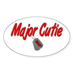 USAF Major Cutie Oval Sticker