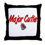 USAF Major Cutie  Throw Pillow