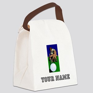 Billiards Player (Custom) Canvas Lunch Bag