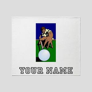 Billiards Player (Custom) Throw Blanket