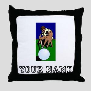 Billiards Player (Custom) Throw Pillow