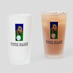 Billiards Player (Custom) Drinking Glass