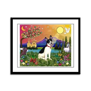 Fantasy Land & Rat Terrier Framed Panel Print