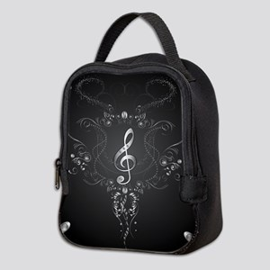 Elegant clef with floral elements Neoprene Lunch B