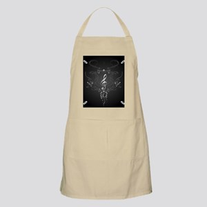 Elegant clef with floral elements Apron