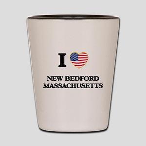 I love New Bedford Massachusetts Shot Glass