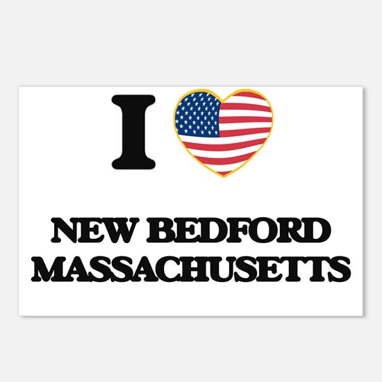 I love New Bedford Massac Postcards (Package of 8)